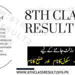 Multan Board 8th Class Result 2019